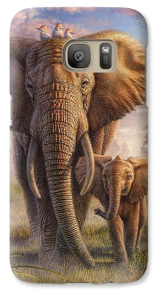 Egret Galaxy S7 Case - Family Stroll by Phil Jaeger