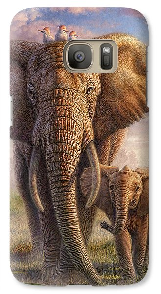 Cow Galaxy S7 Case - Family Stroll by Phil Jaeger