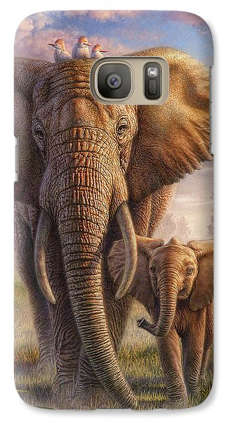 Family Stroll Galaxy S7 Case by Phil Jaeger