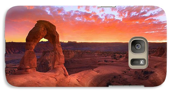 Galaxy Case featuring the photograph Famous Sunset by Kadek Susanto