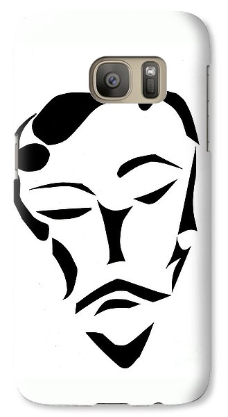 Galaxy Case featuring the digital art Fancy Man by Delin Colon