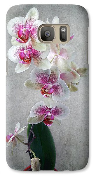 Galaxy Case featuring the photograph Fancy Orchids by Louise Kumpf