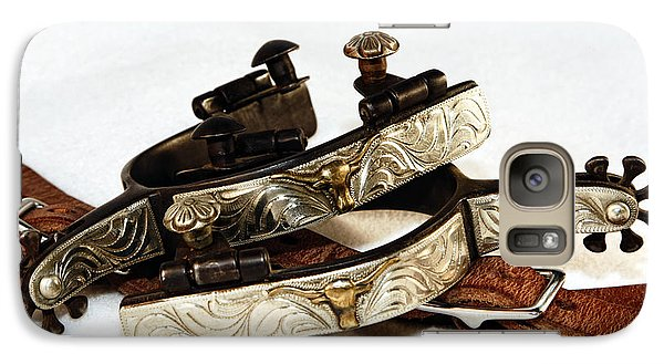 Galaxy Case featuring the photograph Fancy Silver Spurs by Lincoln Rogers