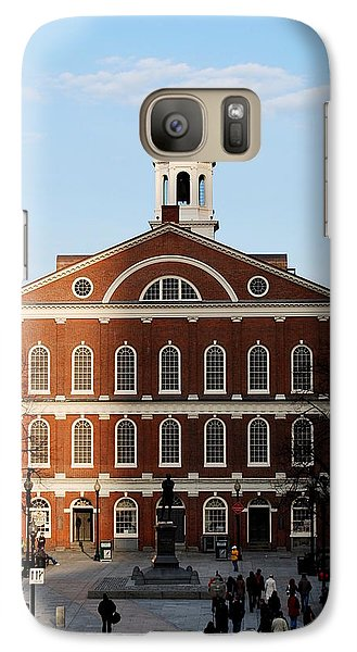 Galaxy Case featuring the photograph Faneuil Hall At Sunset by Caroline Stella