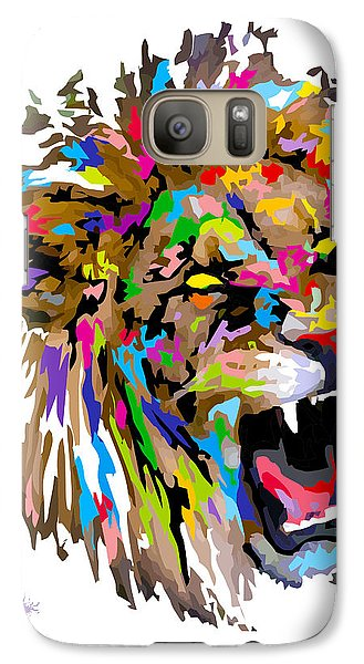 Galaxy Case featuring the painting Fangs by Anthony Mwangi
