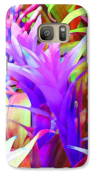 Galaxy Case featuring the photograph Fantasy Bromeliad Abstract by Margaret Saheed
