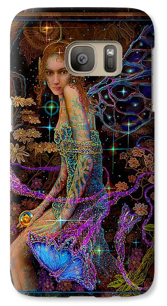 Galaxy Case featuring the painting Fantasy Fairy Princess-angel Tarot Card by Steve Roberts