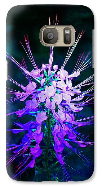 Galaxy Case featuring the photograph Fantasy Flowers 4 by Margaret Saheed