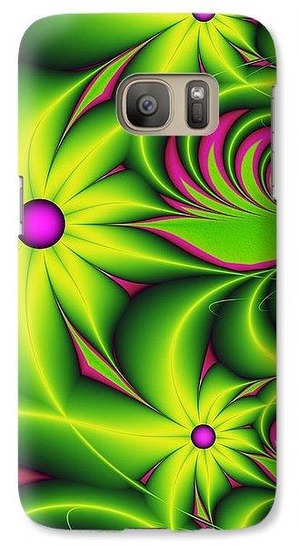 Galaxy Case featuring the digital art Fantasy Flowers by Gabiw Art