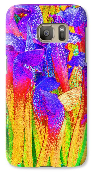 Galaxy Case featuring the photograph Fantasy Flowers by Margaret Saheed