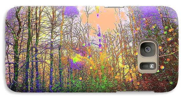 Galaxy Case featuring the photograph Fantasy Forest by Jodie Marie Anne Richardson Traugott          aka jm-ART