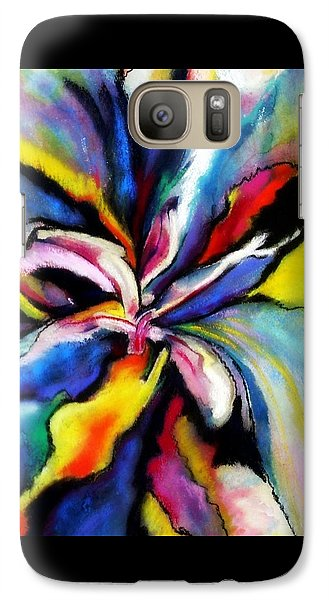 Galaxy Case featuring the painting Fantasy Orchid by Jodie Marie Anne Richardson Traugott          aka jm-ART