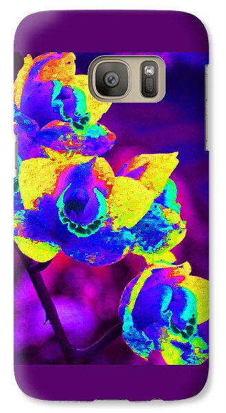 Galaxy Case featuring the photograph Fantasy Orchids 2 by Margaret Saheed