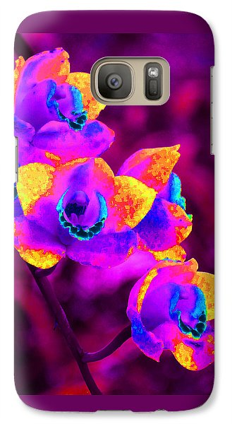 Galaxy Case featuring the photograph Fantasy Orchids by Margaret Saheed