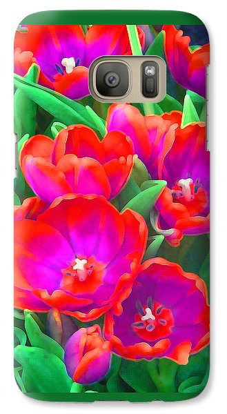 Galaxy Case featuring the photograph Fantasy Tulip Abstract by Margaret Saheed