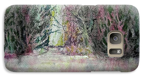 Galaxy Case featuring the painting Fantasy Waterfall by Carolyn Rosenberger