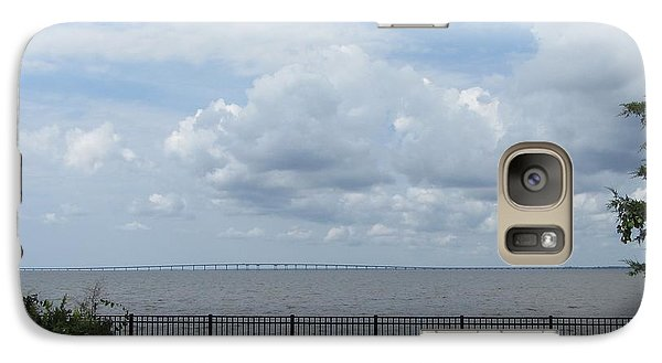 Galaxy Case featuring the photograph Far Away Bridge by Cathy Lindsey