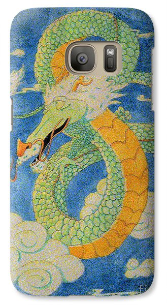 Galaxy Case featuring the painting Far East Wind Rider by Wendy Coulson