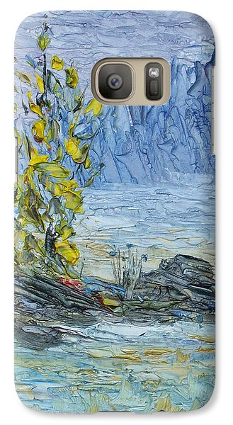 Galaxy Case featuring the painting Far Off Woodland Lough Hyne. by Conor Murphy