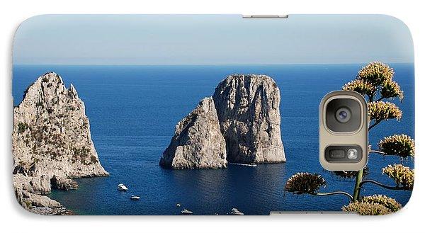 Galaxy Case featuring the photograph Faraglioni In Capri by Dany Lison