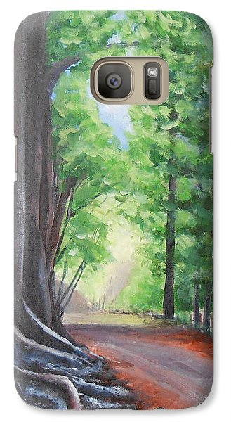 Galaxy Case featuring the painting Faraway by Jane  See