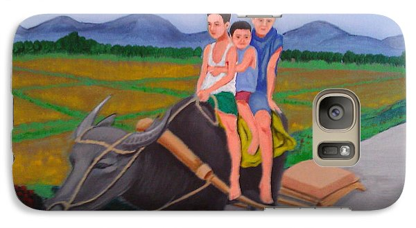 Galaxy Case featuring the painting Farm Boys by Cyril Maza