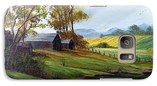 Galaxy Case featuring the painting Farm by Dorothy Maier