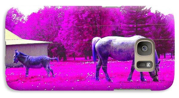 Galaxy Case featuring the photograph Farm Friends - Animals by Susan Carella