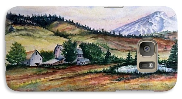 Galaxy Case featuring the painting Farm In A Valley by Richard Benson