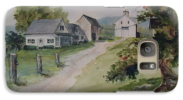 Galaxy Case featuring the painting Farm On Orchard Hill by Joy Nichols