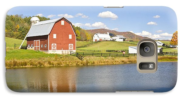 Galaxy Case featuring the photograph Farm With Red Barn by Robert Camp