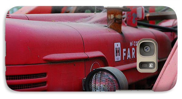 Galaxy Case featuring the photograph Farmall Tractor by Ron Roberts