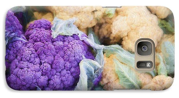 Farmers Market Purple Cauliflower Galaxy Case by Carol Leigh