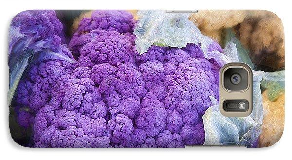 Farmers Market Purple Cauliflower Square Galaxy S7 Case