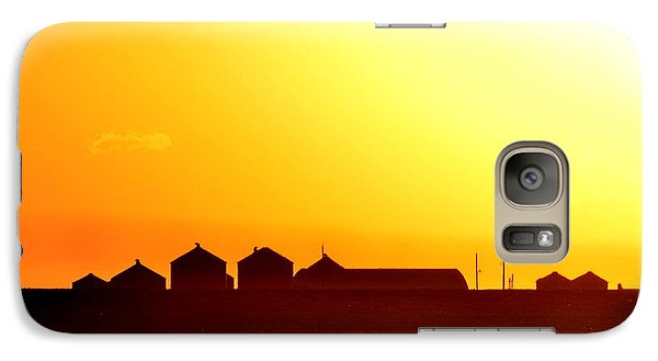 Galaxy Case featuring the photograph Farmstead At Sundown by Clarice  Lakota