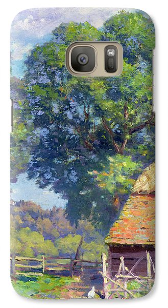 Farmyard With Poultry Galaxy S7 Case by Gabriel Edouard Thurner