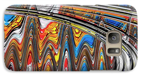 Galaxy Case featuring the digital art Highway To Nowhere Abstract by Gabriella Weninger - David