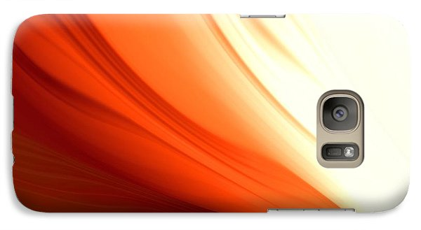 Galaxy Case featuring the digital art Glowing Orange Abstract by Gabriella Weninger - David