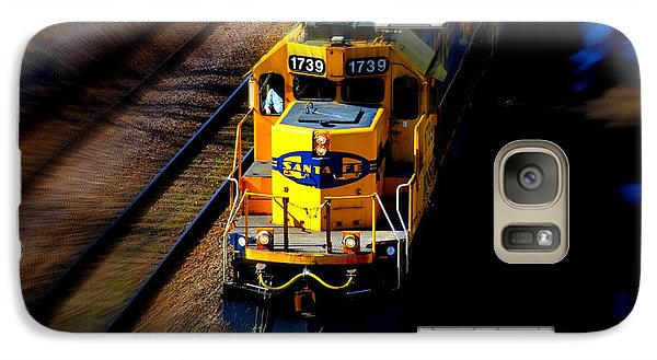 Galaxy Case featuring the photograph Fast Moving Train by Karen Kersey