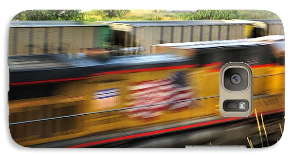 Galaxy Case featuring the photograph Fast Train by Bill Kesler