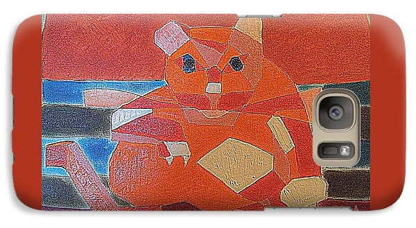 Galaxy Case featuring the painting Fat Cat On A Hot Chaise Lounge by Richard W Linford