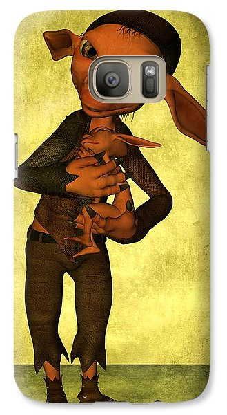 Galaxy Case featuring the digital art Father And Son by Gabiw Art