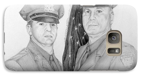 Galaxy Case featuring the drawing Father And Son by Lori Ippolito