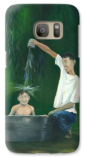 Galaxy Case featuring the painting Fatherly Fun by Dan Redmon