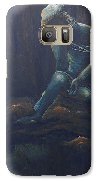 Galaxy Case featuring the painting Fatigue by Itzhak Richter