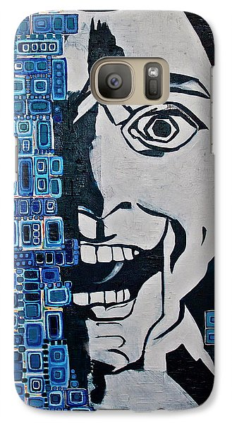 Galaxy Case featuring the painting Fats And The Raven by Donna Howard