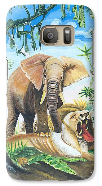Galaxy Case featuring the painting Faune D'afrique Centrale 01 by Emmanuel Baliyanga
