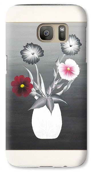 Galaxy Case featuring the painting Faux Flowers II by Ron Davidson