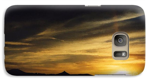 Galaxy Case featuring the photograph Faux Lordsburg New Mexico Sunset 2 by Margaret Newcomb