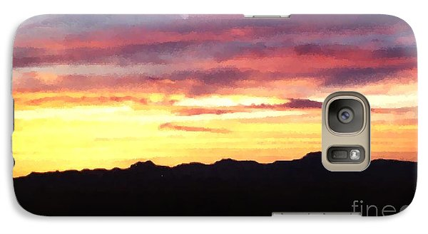 Galaxy Case featuring the photograph Faux Lordsburg New Mexico Sunset by Margaret Newcomb